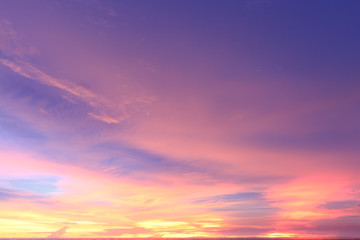 colourful sky during sunset