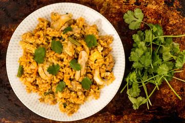 Chicken Nasi Goreng Indonesian Food