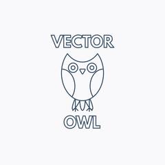 Vector Linear Owl Emblem