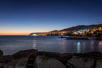 Poster Ligurie Sanremo by night