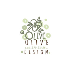 Vector Image Of Some Olives Hand Drawn With Leaves vector illustration