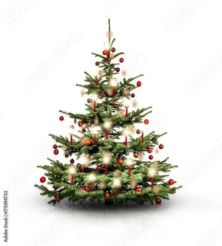 geschm ckter weihnachtsbaum stockfotos und lizenzfreie bilder auf bild 175094733. Black Bedroom Furniture Sets. Home Design Ideas