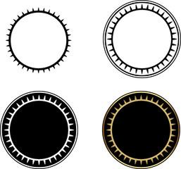 Set of Circle frames-vector illustration