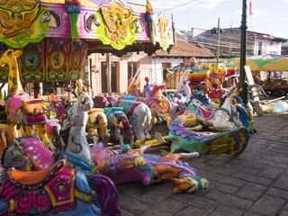 Vintage Fairground Ride - San Cristobal, Mexico