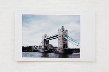 Instant photo from London, UK
