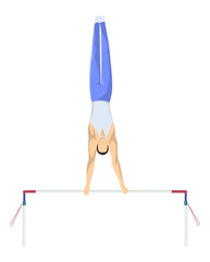 Gymnastics with bars.