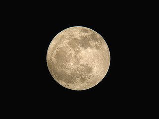 Picture of Full Moon as seen through telescope