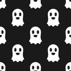 Ghost halloween seamless pattern. Ghost seamless pattern. Vector stock.