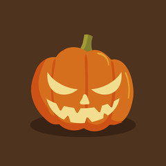 Pumpkin halloween cartoon style. Pumpkin isolated on background. Vector stock.