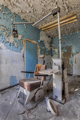old rotting dentist chair
