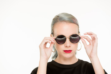 White Female with Sunglasses