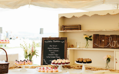 Cupcake Menu and Cupcakes at an Event