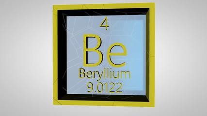 Search photos beryllium 007 beryllium element of the periodic table of the mendeleev system urtaz Gallery