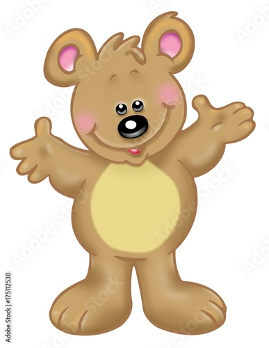 Oso En Color Dibujo Animado Stock Photo And Royalty Free Images On