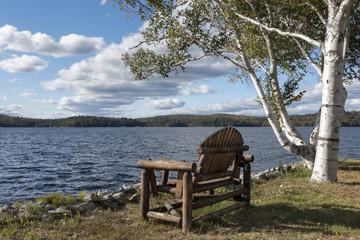 Adirondack Chair on Tupper Lake, New York