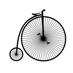 Penny-farthing silhouette