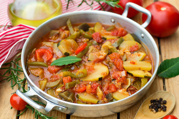 French Provencal stewed vegetable dish Ratatouille