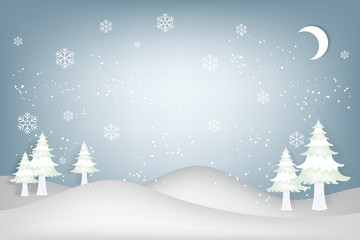 snowflakes and merry christmas background. vector illustration.