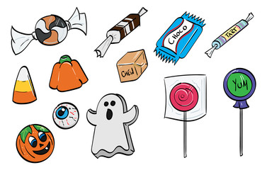 Assorted Generic Halloween Candy Assets