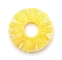 Top view of pineapple slice