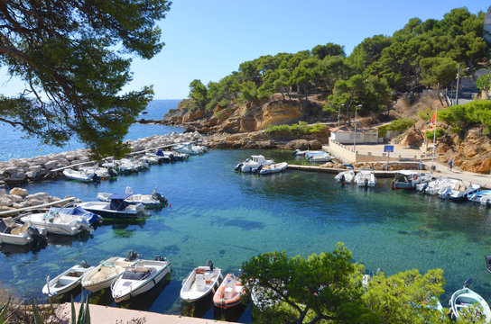 Small harbor in the Calanques, south of France