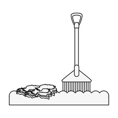 rake tool icon image vector illustration design
