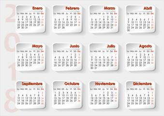 3D Planning Calendar in Spanish
