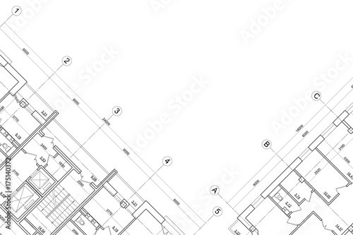 Background Of Architectural Drawing Stock Image And Royalty Free