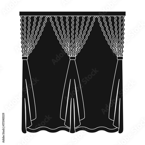 Cornice Single Icon In Black Stylecornice Vector Symbol Stock