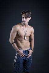 Fashion man shirtless