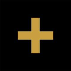 cross gold icon