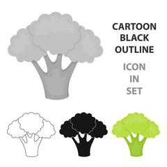 Fototapete - Broccoli icon cartoon. Singe vegetables icon from the eco food cartoon.