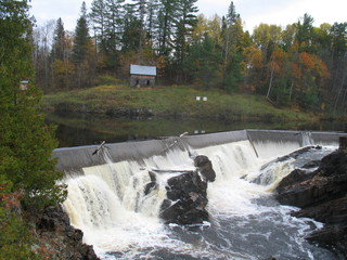 Waterfall in Ontario, Canada in North America.