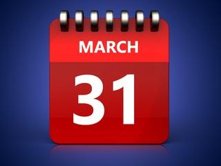 3d 31 march calendar