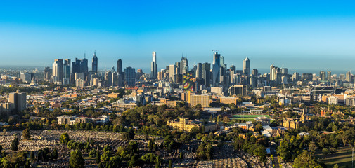 Melbourne Skyline Sunrise