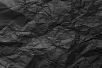 Black Crumpled Paper Background
