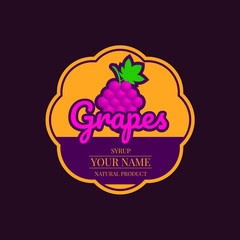 grapes syrup label
