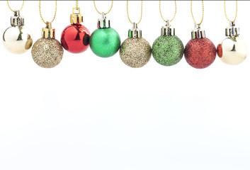 Christmas Ball Decoration.Holiday Decoration on White Background.