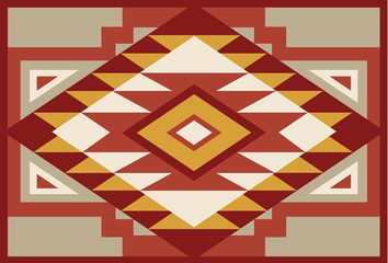 Abstract Red and Beige Southwest Native Background 1