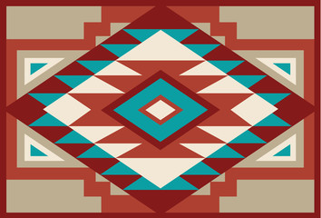 Abstract Red and Beige Southwest Native Background 3