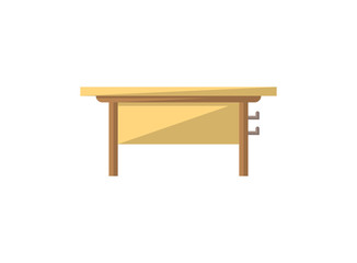 Class desk isolated icon in flat style
