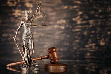 Justice statue.