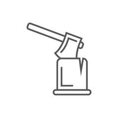 Ax in log icon in linear style