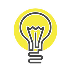 Electric light bulb isolated vector icon