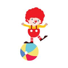 Circus Performer Cartoon Vector Illustration