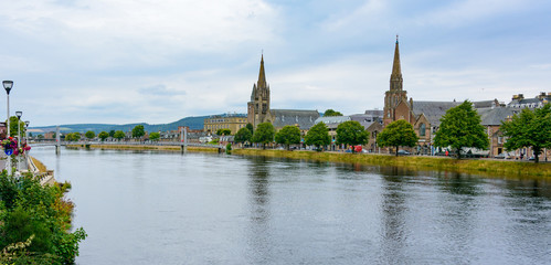 Inverness, Scotland River Ness and Old High Church