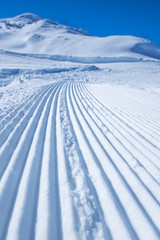 Snow path ski track surface