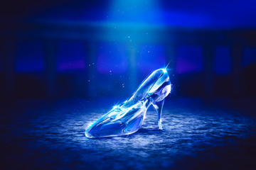 3D image of Cinderella's glass slipper on the floor Wall mural