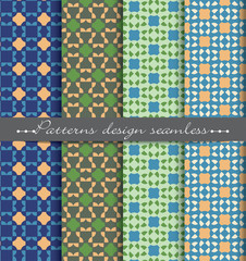 vector damask seamless pattern background. pattern swatches included for illustrator , swatches