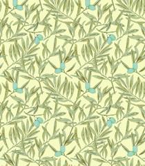 Olive tree seamless pattern